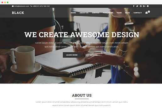 blacki onepage business wordpress theme